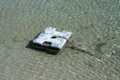 Boat chain anchor at sea Royalty Free Stock Image