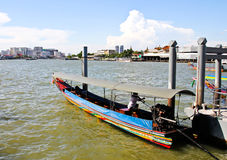 Boat on Chao Phraya river Royalty Free Stock Photography