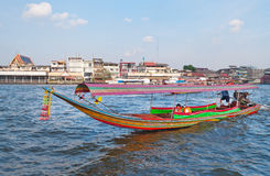 Boat on Chao Phraya river in Bangkok Stock Images