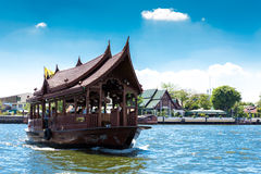 Boat at Chao Phraya river in Bangkok, Thailand. Stock Photos