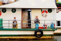 Boat on Chao Phraya River, Bangkok Stock Images