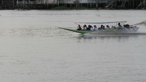 Boat on chao phraya river. Thailand stock video