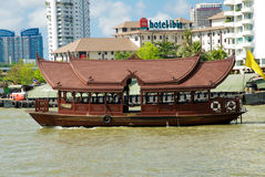 Boat on the Chao Praya river Royalty Free Stock Photo