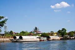 Boat at Chaopraya Rive. Big Boat at Chaopraya Rive stock photos