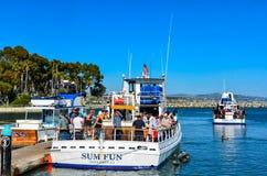 Boat Charter - Dana Point Harbor - California Stock Images