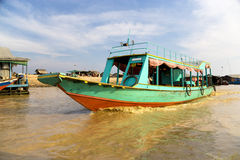 Boat at Chong Kneas River, Cambodia Royalty Free Stock Photos