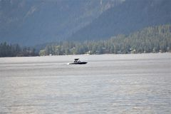 Boat at Christian Lake stock photography