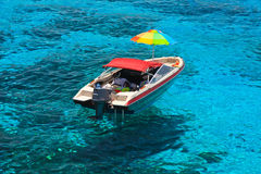 Boat at clear sea Stock Image