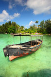 Boat on Clear Water Stock Photography