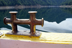 Boat cleat Stock Image