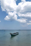 Boat and the cloud on clear sea Stock Image