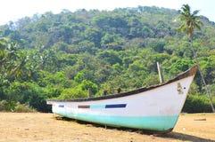 Boat on the coast of the arabian sea. India. GOA royalty free stock image