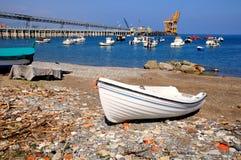 Boat on the coast. Royalty Free Stock Photography