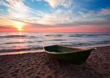 Boat on coast Stock Image