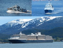 Boat Collage Royalty Free Stock Images
