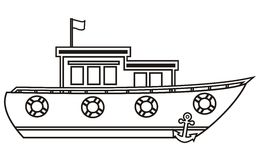 Boat, coloring book Stock Photo