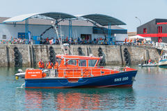 Boat from the Company coastguards on Sea Stock Image