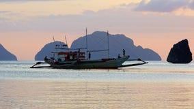 Boat at Corong corong beach. El Nido Stock Images