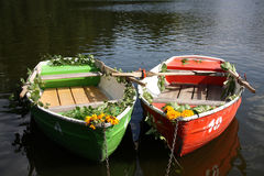 Boat couple royalty free stock images