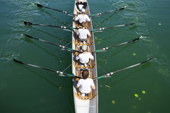 Boat coxed four Royalty Free Stock Photo