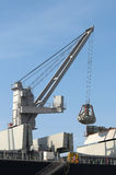 Boat crane. In loading and unloading operations Stock Photo