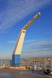 Boat Crane. On a harbour wall Stock Photography