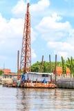 Boat crane . Stock Photo