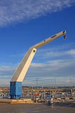 Boat Crane. In Portland harbour Stock Images