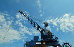 Boat crane Royalty Free Stock Image