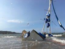 Boat crash Royalty Free Stock Photos