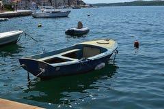Boat in the Croatia in Åibenik stock photography