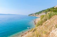 Boat at the Croatian coast Royalty Free Stock Photography