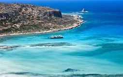 A boat cruise between the islands and crystal clear water Stock Photo