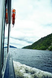 Boat cruise on Loch Ness lake Stock Photography