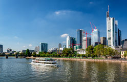 Boat cruise through the Main river Royalty Free Stock Photography