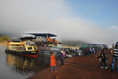 Boat Cruise of Periyar Lake Stock Photo
