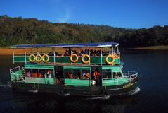 Boat Cruise on Periyar Lake Royalty Free Stock Photos