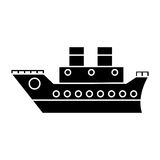 Boat cruise travel sea pictogram Royalty Free Stock Photos
