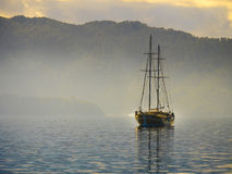 Boat crusing in sea of Marmaris. Boat cruising in sea of Marmaris Stock Photography