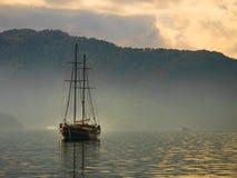 Boat crusing in sea of Marmaris. Boat cruising in sea of Marmaris Stock Photo