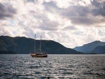 Boat crusing in sea of Marmaris. Boat cruising in sea of Marmaris Stock Images