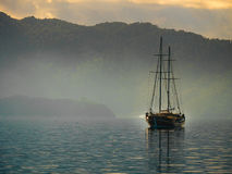 Boat crusing in sea of Marmaris. Boat cruising in sea of Marmaris Royalty Free Stock Image