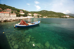 Boat in dalmatia Stock Images