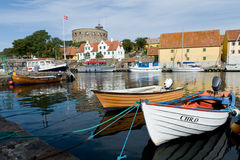 Boat at Danish island Royalty Free Stock Photos