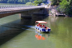 Boat on the Danube Royalty Free Stock Photos