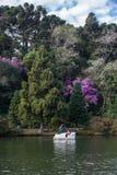 Boat on Dark Lake Gramado Brazil Royalty Free Stock Image