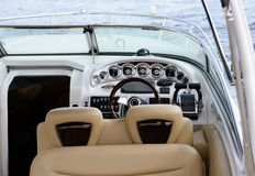 Boat dashboard Royalty Free Stock Photos