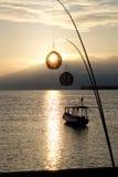 Boat at dawn. Royalty Free Stock Image