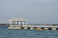 Boat Day Outdoor Pavilion Sea Wood Stock Photo