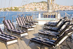 Boat deck Stock Photography